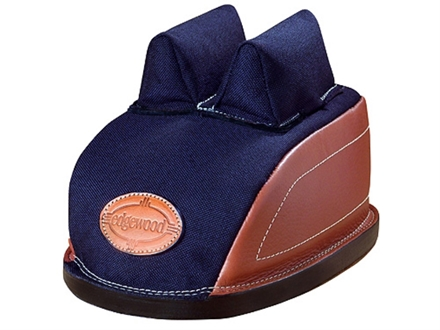 Edgewood Minigater Rear Shooting Rest Bag Standard with Regular Ears and Regular Stitch Width Leather and Nylon Navy Blue Unfilled