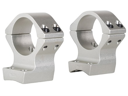 "Talley Lightweight 2-Piece Scope Mounts with Integral 1"" Rings Browning X-Bolt Silver Medium"