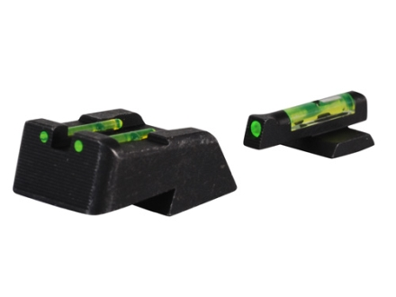 HIVIZ Sight Set Springfield XD, XDM Steel Fiber Optic Green