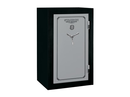 Stack-On Total Defense Fire-Resistant 36-Gun Safe with Electronic Lock Matte Black and Silver with Door Storage