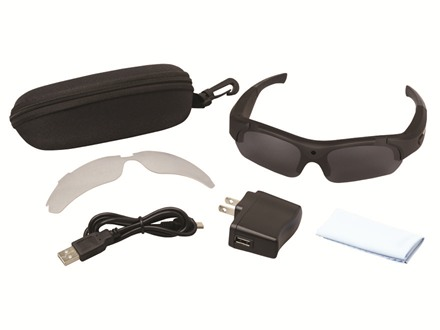 I-KAM Xtreme Video Camera Glasses Flat Black