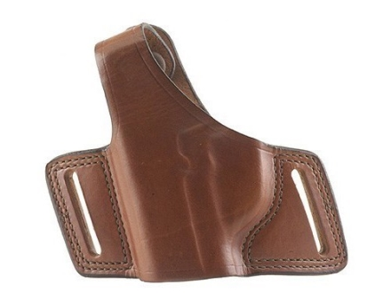 Bianchi 5 Black Widow Holster Right Hand Glock 17, 19, 22, 23, 26, 27, 34, 35 Leather Tan