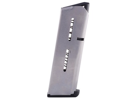 Wilson Combat Magazine with Low Profile Steel Base Pad 1911 Compact 45 ACP 6-Round Stainless Steel