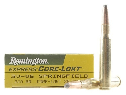 Remington Express Ammunition 30-06 Springfield 220 Grain Core-Lokt Soft Point Box of 20