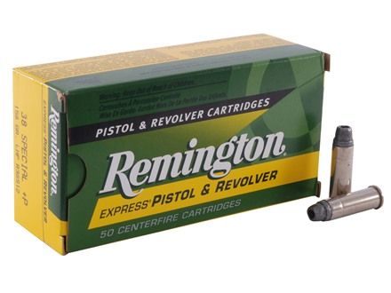 Remington Express Ammunition 38 Special +P 158 Grain Lead Hollow Point Box of 50