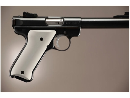 Hogue Extreme Series Grip Ruger Mark II, Mark III Aluminum Matte Clear