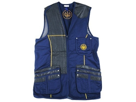 Beretta Gold Shooting Vest Right Hand Cotton and Polyester Blend Blue Size 40""