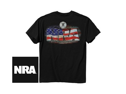 NRA Men's Flag Logo Short Sleeve T-Shirt
