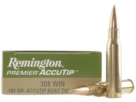 Remington Premier Ammunition 308 Winchester 165 Grain AccuTip Boat Tail Box of 20