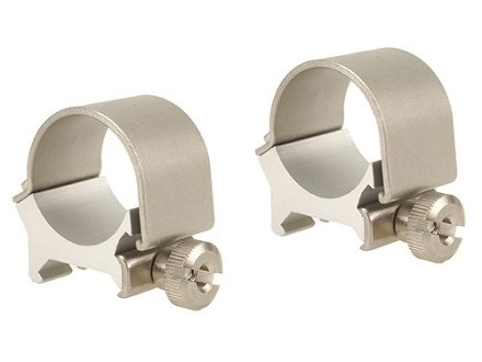 "Weaver 1"" Top-Mount Rings Silver Medium"