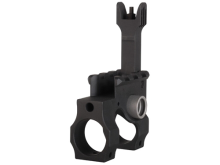 "Vltor VST Gas Block with Flip-Up Front Sight & Quick Detach Swivel Socket Taper Pin Mount AR-15, LR-308 Standard Barrel .750"" Inside Diameter Steel Black"