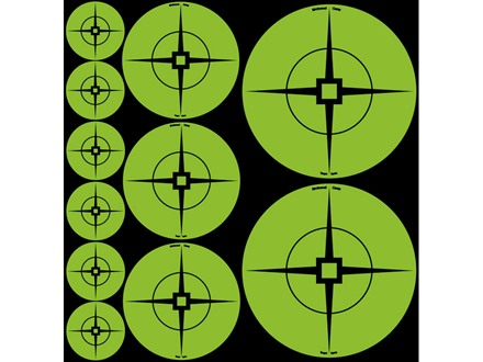 "Birchwood Casey Target Spots Assorted Pack Atomic Green (60-1"", 30-2"", 20-3"")"