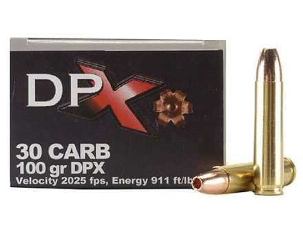 Cor-Bon DPX Hunter Ammunition 30 Carbine 100 Grain DPX Hollow Point Lead-Free Box of 20