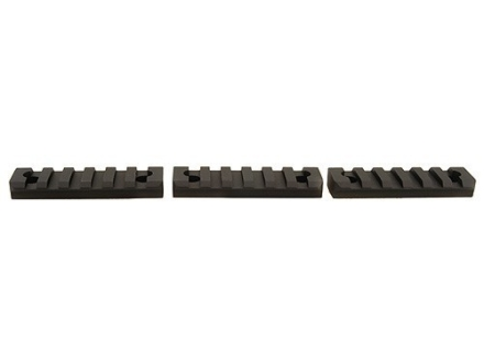 "Badger Ordnance Picatinny Rail 2-1/2"" Length Fits Badger Ordnance Stabilizer Free Float Handguards Aluminum Matte Package of 3"