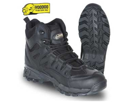"Voodoo Tactical 6"" Tactical Boots Leather Black Men's 10 D"