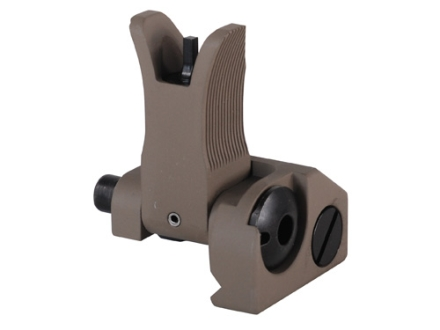 Troy Industries Front Flip-Up Battle Sight M4-Style AR-15 Handguard Height Aluminum Flat Dark Earth