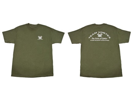 Vortex Team Vortex T-Shirt Short Sleeve Cotton Green Small