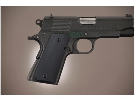 Hogue Extreme Series Grip 1911 Officer Aluminum Matte Black
