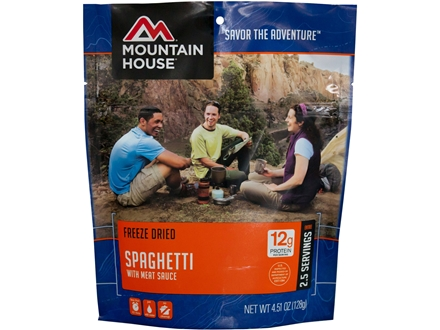 Mountain House Spaghetti with Meat Sauce Freeze Dried Meal 4.5 oz