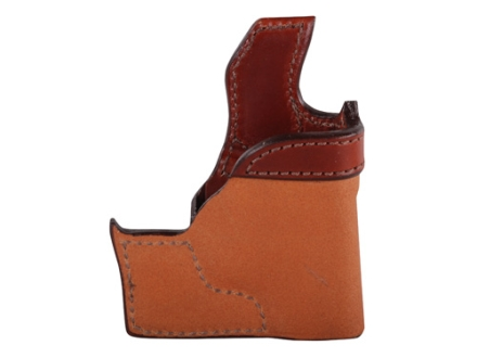 Bianchi 152 Pocket Piece Pocket Holster Right Hand Ruger LCP, Kel-Tec P3AT, P32 Leather Brown