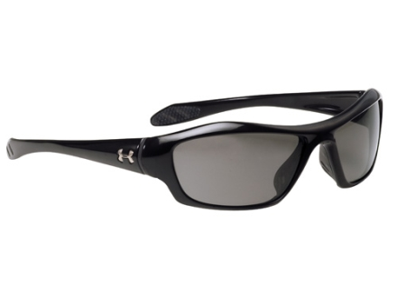 Under Armour Impulse Polarized Sunglasses Polymer Black Frame Gray Multiflection Lenses