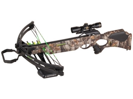 Barnett Wildcat C5 Crossbow Package with 4x 32mm Multi-Reticle Scope Realtree Hardwoods Camo