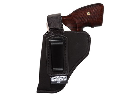 "Uncle Mike's Inside the Waistband Retention Strap Holster Left Hand Small Frame 5-Round Revolver with Hammer 2"" Barrel Ultra-Thin 4-Layer Laminate Black"
