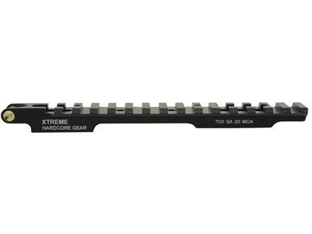 Xtreme Hardcore Gear Tru Level 1-Piece Picatinny-Style Scope Base Remington 700 Short Action with Integral Bubble Level Matte