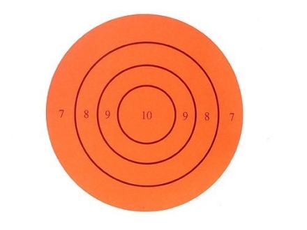 "Lyman Hot Bullseye 3"" Self-Adhesive Red Package of 25"