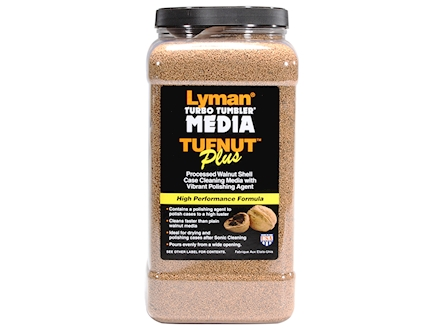 "Lyman Turbo Brass Cleaning Media Treated Tufnut (Walnut) 7 lb ""Easy Pour Container"""