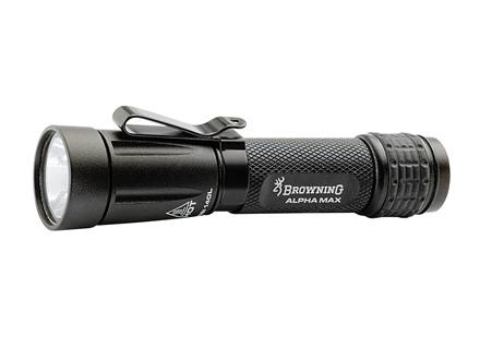 Browning Alpha Max Flashlight LED with 1 AA Battery Aluminum Black