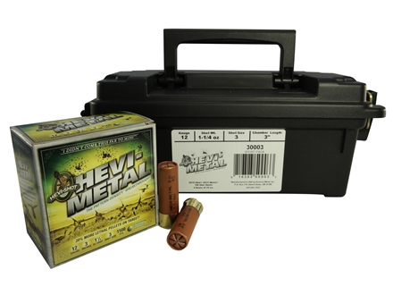 "Hevi-Shot Hevi-Metal Waterfowl Ammunition 12 Gauge 3"" 1-1/4 oz #3 Hevi-Metal Non-Toxic Shot"