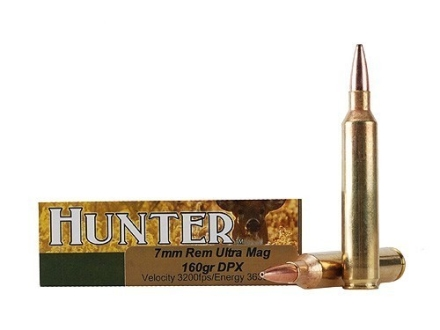 Cor-Bon DPX Hunter Ammunition 7mm Remington Ultra Magnum 160 Grain DPX Hollow Point Lead-Free Box of 20