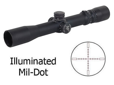 Nightforce NXS Rifle Scope 30mm Tube 2.5-10x 32mm Zero Stop 1/10 Mil Adjustments Illuminated Mil-Dot Reticle Matte