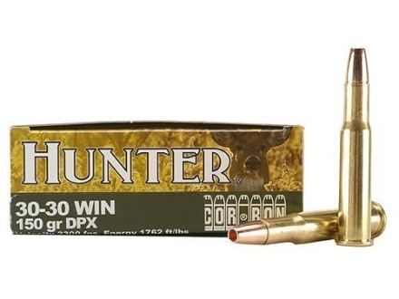 Cor-Bon DPX Hunter Ammunition 30-30 Winchester 150 Grain DPX Hollow Point Lead-Free Box of 20