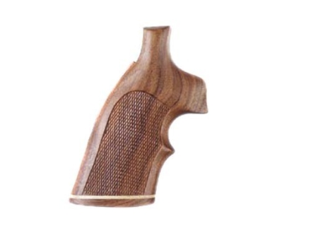 Hogue Fancy Hardwood Grips with Accent Stripe and Top Finger Groove Colt 38 SF-VI Checkered Pau Ferro