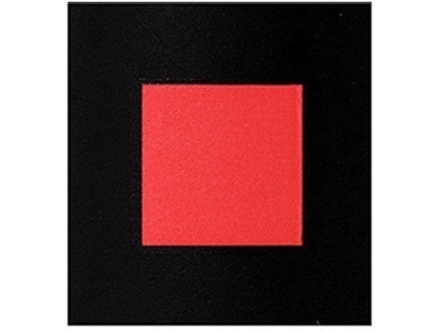 "Lyman Hot Squares 1"" Self-Adhesive Red Package of 50"