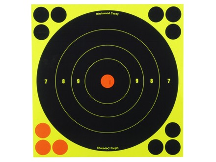 "Birchwood Casey Shoot-N-C Targets 8"" Bullseye Package of 30 with 120 Pasters"