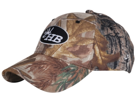 Heartland Bowhunter HB Black Oval Logo Cap Cotton Realtree AP Camo