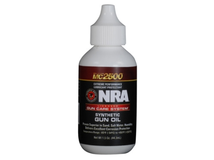 NRA Licensed Gun Care System By Mil-Comm MC2500 Synthetic Gun Oil 1-1/2 oz Bottle