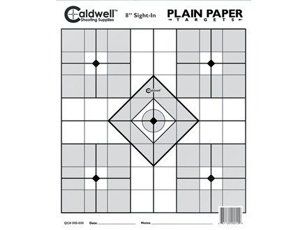 "Caldwell Plain Paper Target 8"" Sight-In Package of 25"