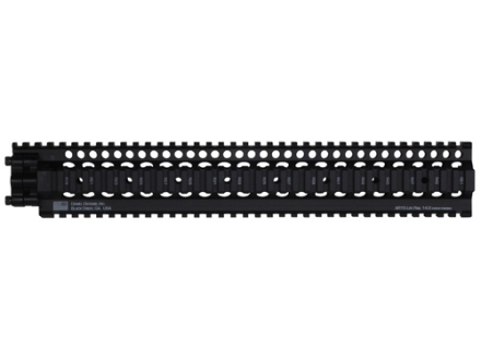 Daniel Defense Lite Rail 14.0 Free Float Tube Handguard Quad Rail AR-15 Extended Rifle Length Aluminum Black