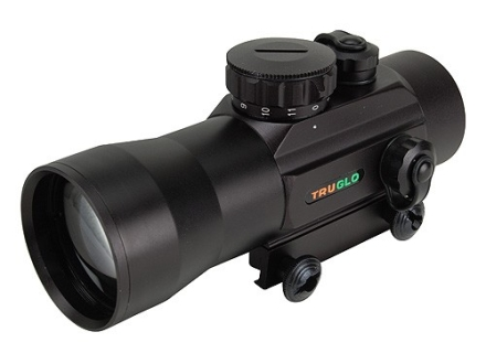 TRUGLO Red Dot Sight 30mm Tube 2x 2.5 MOA Dot with Integral Weaver-Style Base Matte