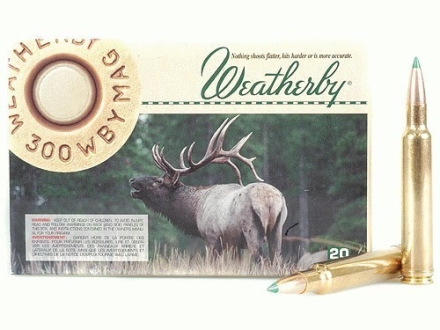 Weatherby Ammunition 300 Weatherby Magnum 180 Grain Nosler Ballistic Tip Box of 20