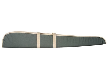 "Hunter Shotgun Gun Case 54"" Nylon Green with Khaki Trim"
