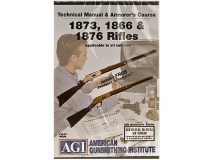 "American Gunsmithing Institute (AGI) Technical Manual & Armorer's Course Video ""Winchester 1866, 1873 & 1876 Rifles"" DVD"