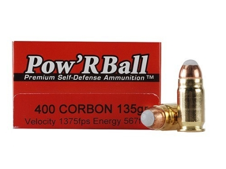 Glaser Pow'RBall Ammunition 400 Cor-Bon 135 Grain Box of 20