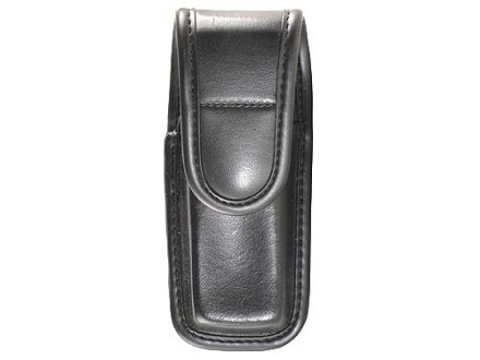 Bianchi 7903 Single Magazine Pouch or Knife Sheath Beretta 92, 96, Browning Hi-Power, Sig Sauer P226, P228, P229 Hidden Snap Trilaminate High-Gloss Black