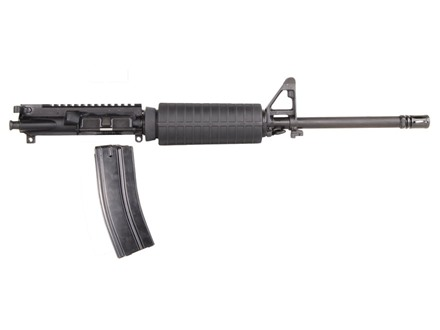 "Olympic Arms AR-15 A3 Flat-Top Upper Assembly 5.45x39mm 1 in 8"" Twist 16"" Barrel Stainless Steel Black with M4 Handguard, Flash Hider, 30-Round Magazine"