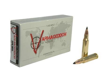 Nosler Varmageddon Ammunition 308 Winchester 110 Grain Tipped Flat Base Box of 20